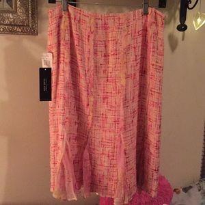Rickie Freeman TERI JON shades of pink skirt size8